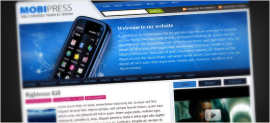 Mobipress WordPress Theme