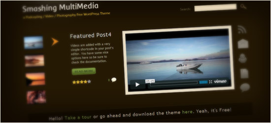 Smashing Multimedia WordPress Theme