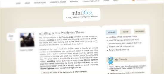miniBlog WordPress Theme