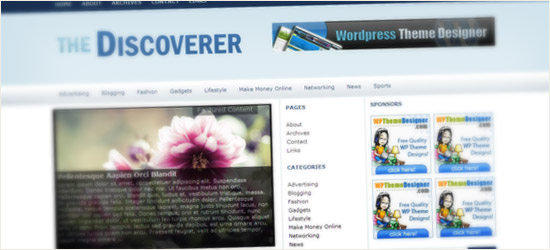 Discoverer WordPress Theme