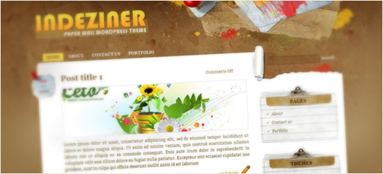 Paper Wall WordPress Theme