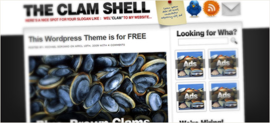 The Clam Shell WordPress Theme