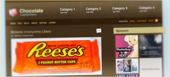 Chocolate Pro WordPress Style Layout