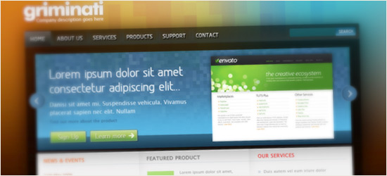 Clean & Colorful Web Layout