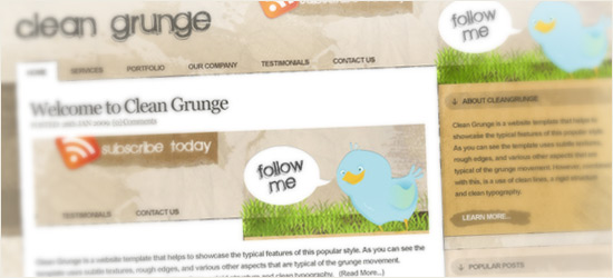 clean Grunge Blog Design