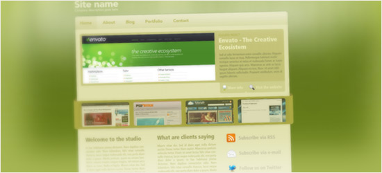 Green & Sleek Web Layout