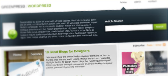 GreenPress WordPress Layout