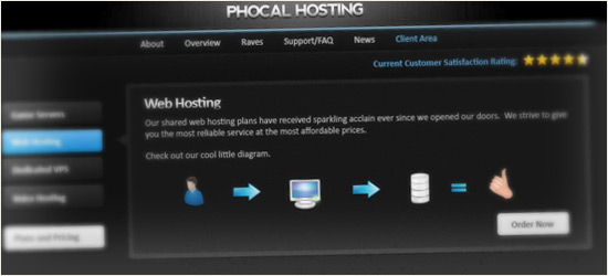Sleek & Modern Hosting Layout
