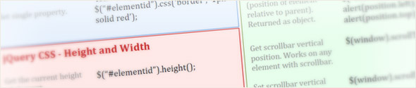 jQuery - CSS Cheat Sheet