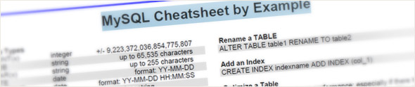 MySQL Cheatsheet by Example