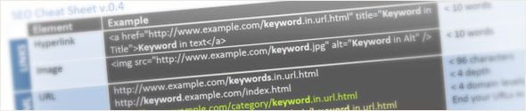 SEO Cheat Sheet 0.4