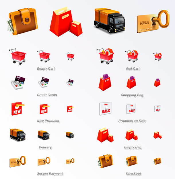E-coommerce Icon Set