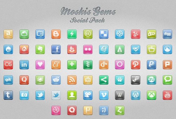 Moskis Gems: 180 iconos sociales