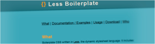 LESS Boilerplate
