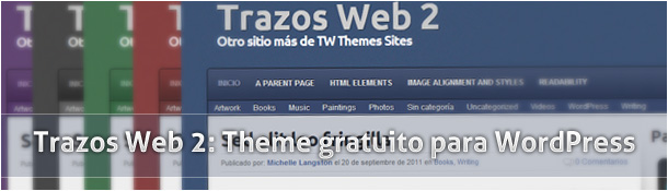 Trazos Web 2: Theme gratuito para WordPress