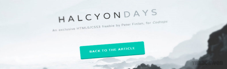 Halcyon Days CSS HTML Template