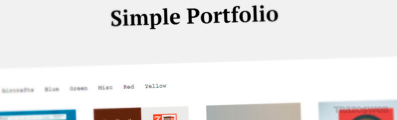 Simple Portfolio WordPress Theme