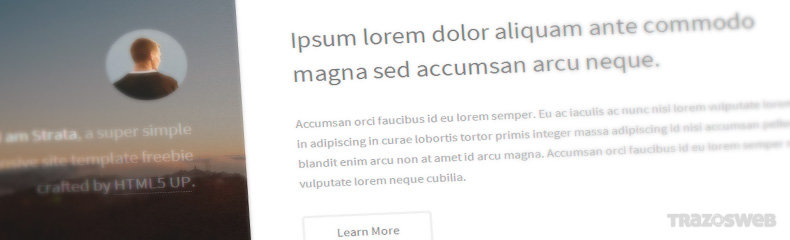 Strata HTML/CSS Template