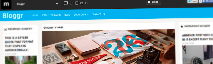 Bloggr WordPress Theme