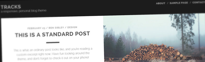 Tracks WordPress Theme